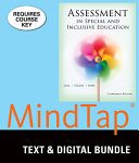 Assessment  in Special and Inclusive Education   Mindtap Education  1 Term  6 Monthprinted Access Card Book