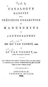 Catalogue de la bibliothèque de theologie ...: Catalogue saisonné de la precieux collection de manuscrits et d'autographes, Volume4