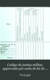 Codigo de justiça militar, approvado por carta de lei de 13 de maio de 1896 e legislação complementar