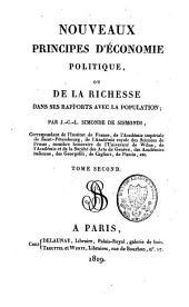 Nouveaux principes d'économie politique, ou De la richesse dans ses rapports avec la population