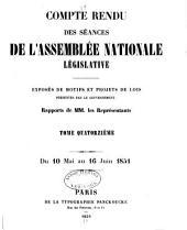 Compte rendu des séances des l'Assemblée nationale: Volume14
