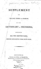 The Decisions of the Court of Session, from Its First Institution to the Present Time: Abridged, and Digested Under Proper Heads, in Form of a Dictionary, Volume 5