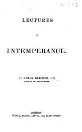 Lectures on Intemperance