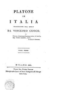 Platone in Italia  Traduzione dal greco da Vincenzo Cuoco     Tomo primo   terzo  PDF