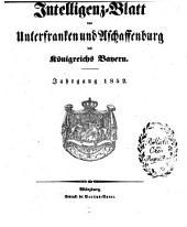 Intelligenzblatt von Unterfranken und Aschaffenburg des Königreichs Bayern: 1852, 1