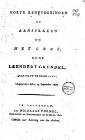 Korte redevoeringen of aanspraken bij het graf, uitgespr. sedert 25 september 1800