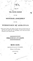 Acts Passed by the General Assembly of the Territory of Arkansas PDF