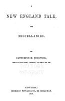 A New England Tale  and Miscellanies PDF