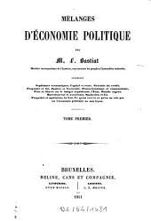 Mélanges d'économie politique: Volume1