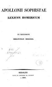 Apollonii Sophistae Lexicon Homericum