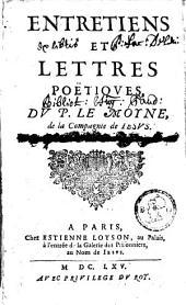 Entretiens et lettres poëtiques