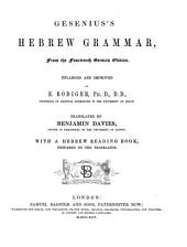 Gesenius's Hebrew Grammar