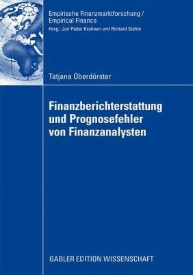 Finanzberichterstattung und Prognosefehler von Finanzanalysten PDF
