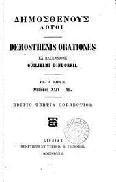 Demosthenes, ex recens. G. Dindorfii: Volume 2