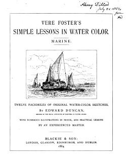 Vere Foster s Simple lessons in water colour  Marine Book