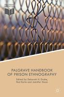 The Palgrave Handbook of Prison Ethnography PDF