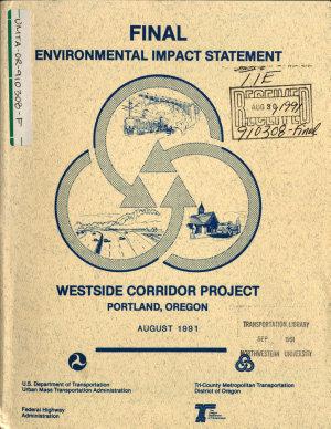 Westside Corridor Project  Multnomah Washington Counties  Portland