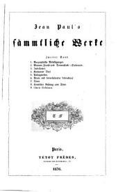 Jean Paul's sämmtliche Werke: Band 2