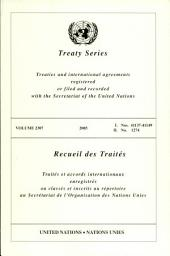 Treaty Series 2307 I: 41137-41149, Ii: 1274, Volume 2; Volume 71