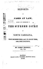 North Carolina Reports: Cases Argued and Determined in the Supreme Court of North Carolina, Volume 30