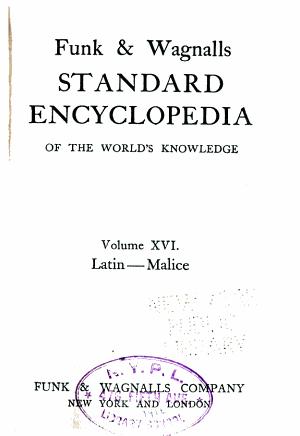 Funk   Wagnalls Standard Encyclopedia of the World s Knowledge     PDF