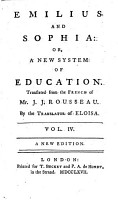 Emilius and Sophia  or  a New system of education  Translated     by the Translator of Eloisa  i e  William Kenrick      A new edition   With engravings  including a portrait   PDF
