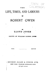 The Life, Times and Labours of Robert Owen