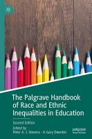 The Palgrave Handbook of Race and Ethnic Inequalities in Education PDF
