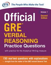 Official GRE Verbal Reasoning Practice Questions, Second Edition: Volume 1, Edition 2