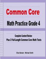 Common Core Math Practice Grade 4 PDF