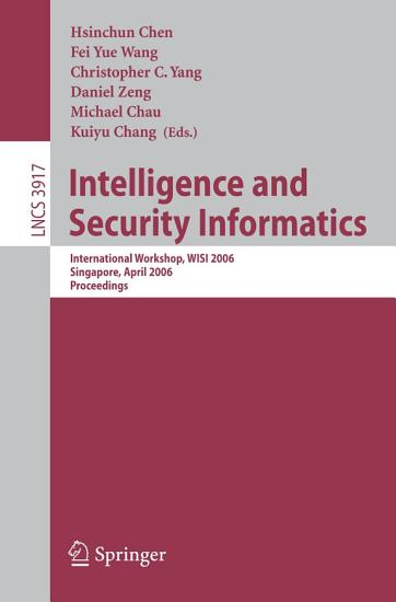 Intelligence and Security Informatics PDF