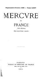 Mercure de France: Serie moderne, Volume75