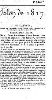 Catalogue des objets exposés au Salon de 1817