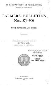 Farmers' Bulletin: Issues 876-900