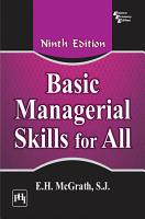 Basic Managerial Skills for All PDF