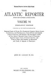 Atlantic Reporter: Volume 94