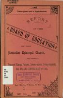 Report of the Board of Education of the Methodist Episcopal Church to the Annual Conferences of     PDF