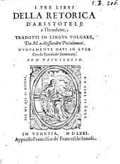 I tre libri della retorica d'Aristotele