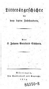Litterärgeschichte: Bände 1-2