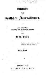 Geschichte des deutschen Journalismus PDF