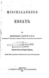 Miscellaneous Essays: Volume 2