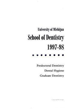 School of Dentistry     PDF