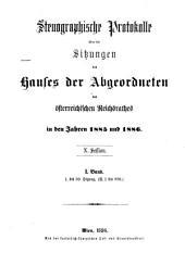 Stenographische Protokolle: Band 1