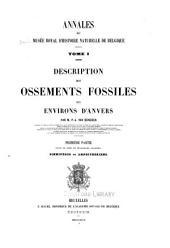 Annales du Musée royal d'histoire naturelle de Belgique: Volume1
