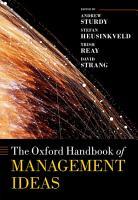 The Oxford Handbook of Management Ideas PDF