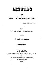 Lettres de deux ultramontains