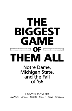 The Biggest Game of Them All PDF