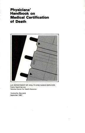 Physicians  Handbook on Medical Certification of Death PDF