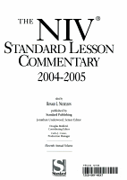 The NIV Standard Lesson Commentary PDF