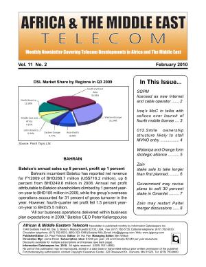 Africa   Middle East Telecom Monthly Newsletter February 2010 PDF